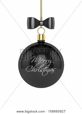 3D Rendering Of Christmas Bauble Over White Background