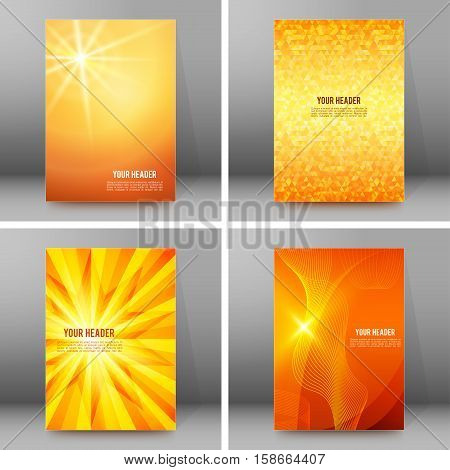 Set Of Glow Theme Brochure Cover Page A4 Format03
