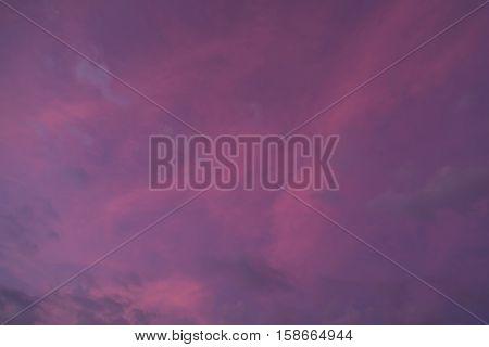 Fantastic pink clouds - beautiful natural background. Sky Fiji