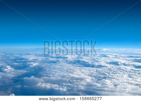 The sky above the clouds on a clear day