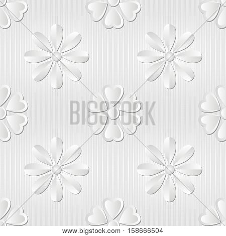seamless background with floral pattern - vector illustration