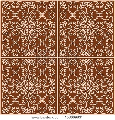 Elegant vintage weave ornament for wallpaper, fabric, tiles, paper, invitation print.