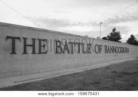 A view of the entrance to the Bannockburn battlefield site