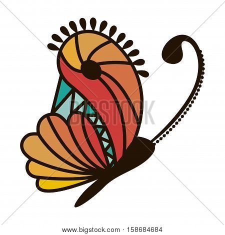 colorful abstract monarch butterfly design vector illustration