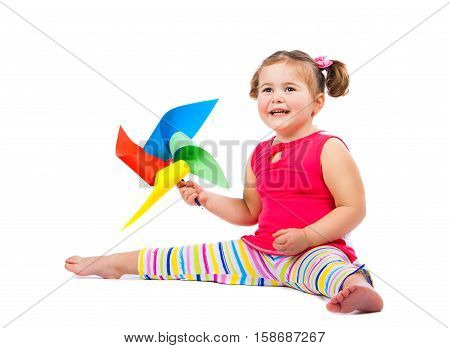 Cheerful Little Girl Playing