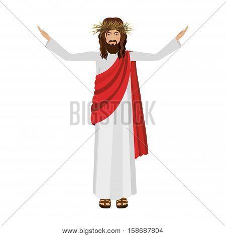 Religious design of jesus christ vector illustration