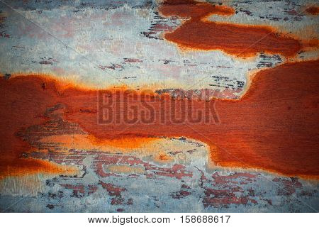 orange rust on old metal surface colorful texture for your design