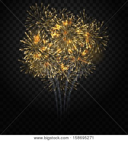 Illustration Festive Firework Bursting, Holiday Background - raster