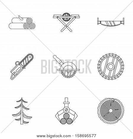 Cleaver icons set. Outline illustration of 9 cleaver vector icons for web