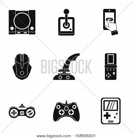 Game icons set. Simple illustration of 9 game vector icons for web