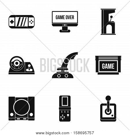 Fantasy games icons set. Simple illustration of 9 fantasy games vector icons for web