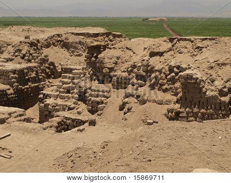Archeological burial site