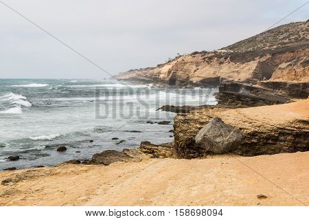 The Point Loma tidepools in San Diego, California, part of the Cabrillo National Monument.