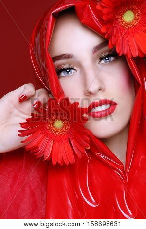 High End Portrait of a Beautiful Fashion Girl