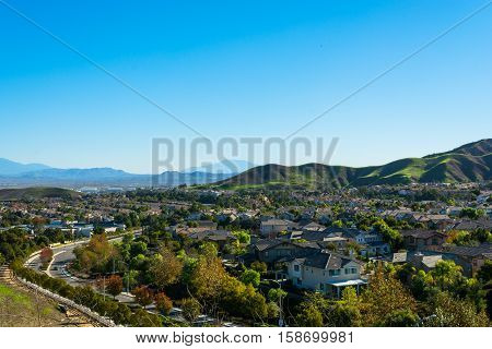 Middle class nieghborhood in Chino Hills California