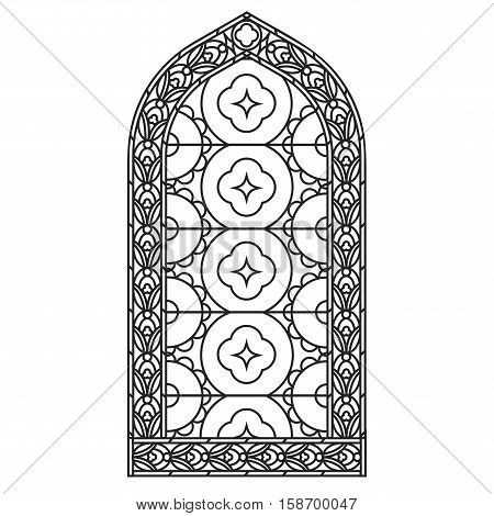 On the image presented Gothic windows. Vintage frames. Church stained-glass windows