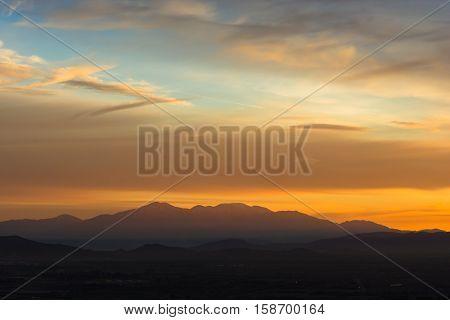 Mount Baldy California at Sunrise early morning