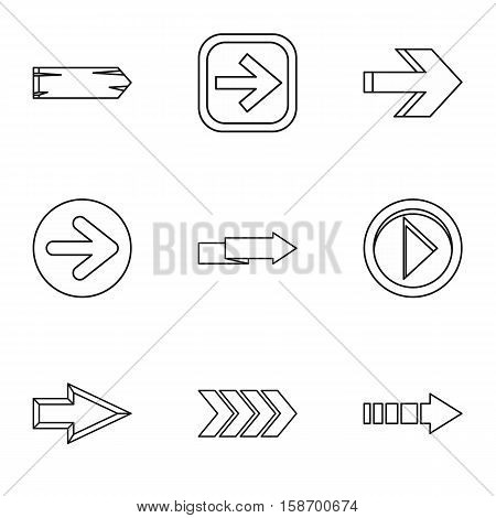 Kind of arrow icons set. Outline illustration of 9 kind of arrow vector icons for web