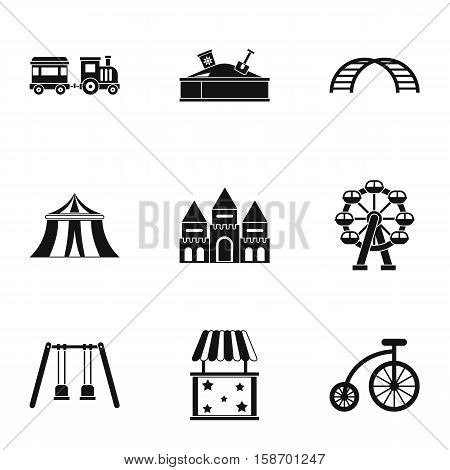 Swing icons set. Simple illustration of 9 swing vector icons for web