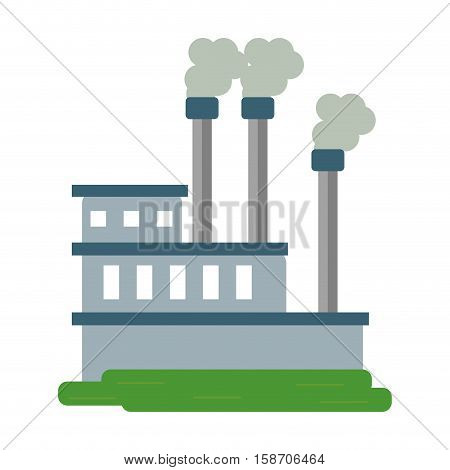 manufactory industry producing gas vector illustration eps 10