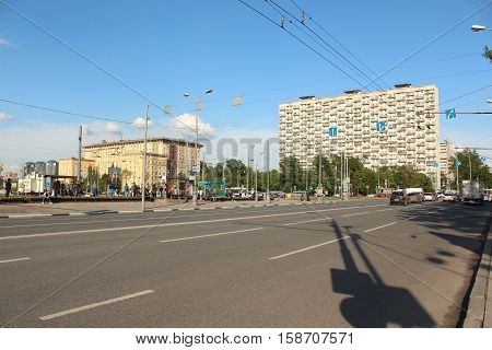 Russia, Moscow 25 May 2016, View of the street Boris Galushkina in Moscow