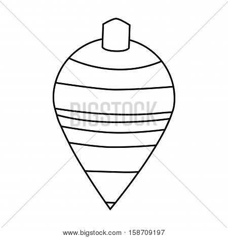 Spinning top toy icon. Childhood play game and object theme. Isolated design. Vector illustration