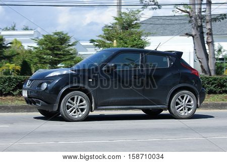 CHIANG MAI THAILAND - OCTOBER 27 2016: Private car Nissan Juke. On road no.1001 8 km from Chiangmai city.
