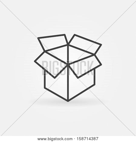 Carton box linear icon. Vector box and package minimal sign or symbol
