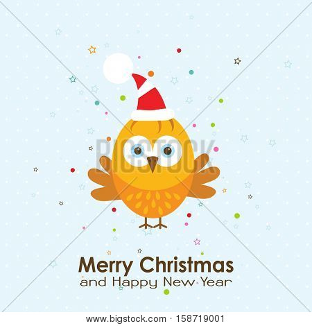 Template Christmas greeting card with a rooster, vector illustration