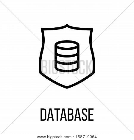 Database icon or logo in modern line style. High quality black outline pictogram for web site design and mobile apps. Vector illustration on a white background.