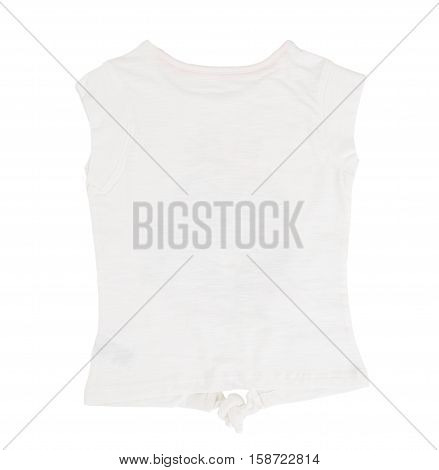 White cotton t-shirt. Isolated on a white background.
