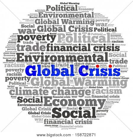 Global Crisis in word collage