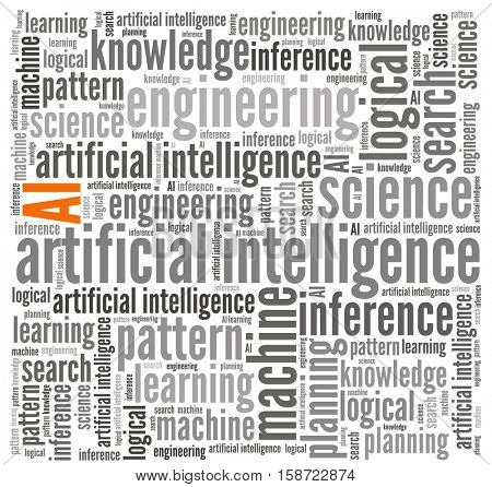 Artifial Intelligence in word collage