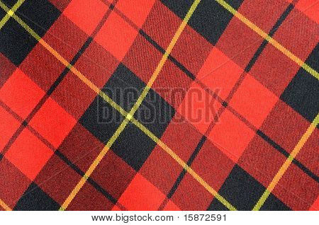Background Texture Of Tartan Plaid Fabric