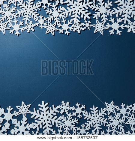 Border of Christmas snowflakes