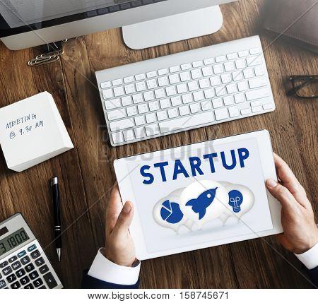 New Business Startup Entrepreneur Objective Concept