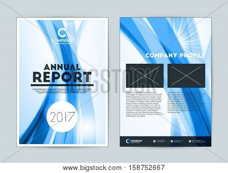 Annual Report Cover Design Template. Vector Flyer Design Template. Cover Layout Design With Abstract
