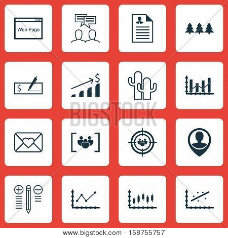 Set Of 16 Universal Editable Icons. Can Be Used For Web, Mobile And App Design. Includes Icons Such As Decision Making, Cacti, Website And More.