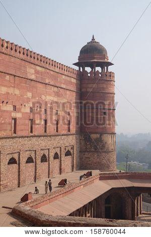 FATEHPUR SIKRI, INDIA - FEBRUARY 15 : Historical city constructed by Mughal emperor Akbar in Fatehpur Sikri, Uttar Pradesh, India on February 15, 2016.