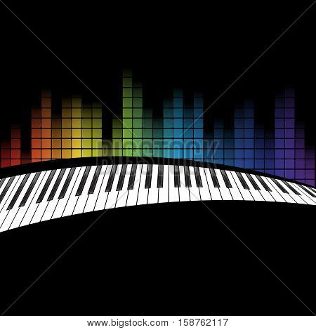 poster background template. Music piano keyboard. Can be used as poster element or icon. Vector illustration