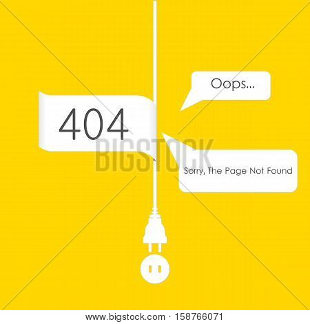 Vectors Abstract background 404 connection error internet