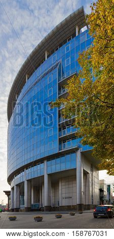 MINSK BELARUS - OCTOBER 1 2016: Building of Belorussian State University (Faculty of International Relations) Minsk Belarus