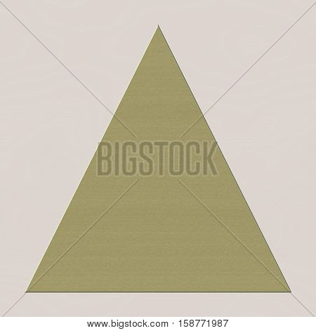 Simple gold beige triangle pyramid shape symbol of imbalance or balance of world. Poor and rich illuminati and others.