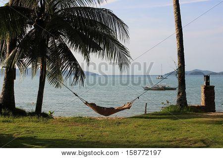 A hammock at the beach. Palawan, Philippines