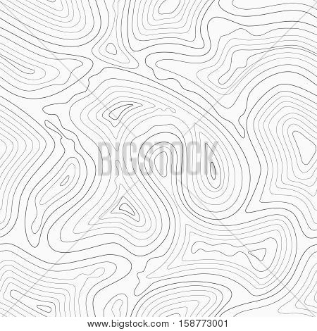 Topographic contour lines vector map seamless pattern. Map of terrain geographic, illustration of topography linear map area