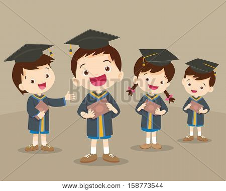 Cute Graduation Students