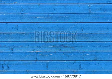 Blue Rural Wooden Wall, Close-up Background