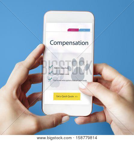 Pet Insurance Protection Compensation Concept