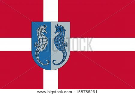 Flag of Fano in Southern Denmark Region