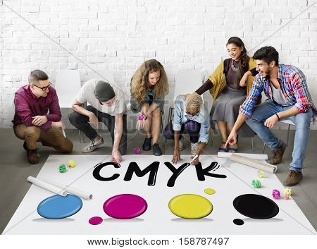 Creative Design Color Ink Mixture Printing Concept